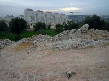The houses of Modi'in Illit, a short distance away